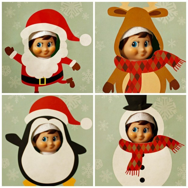 Elf on the Shelf Printable Cutouts