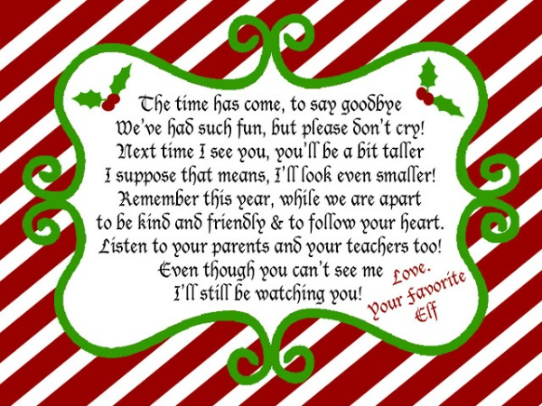 elf on the shelf goodbye letter on the shelf letters letters and other great ideas 10735 | elf shelf goodbye 12