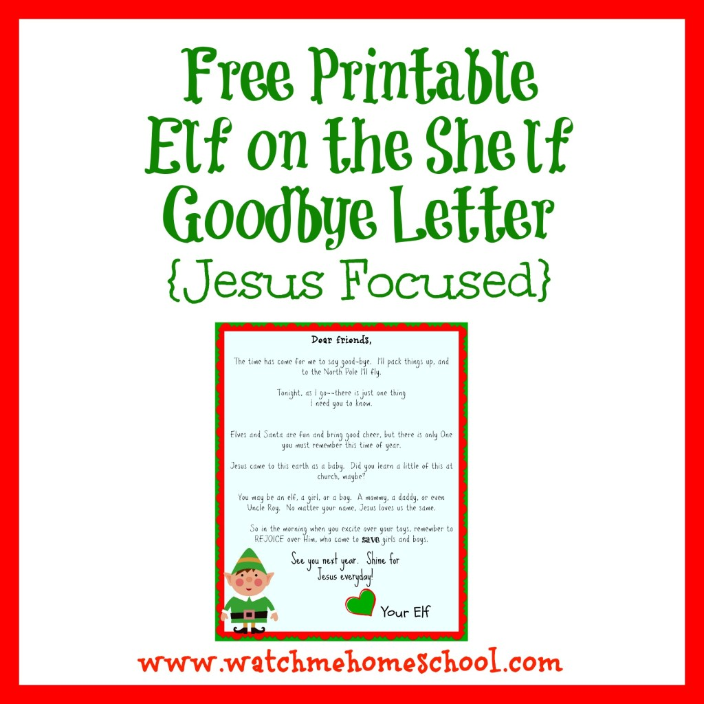 Elf on the shelf letters letters and other great ideas for Goodbye letter from elf on the shelf template