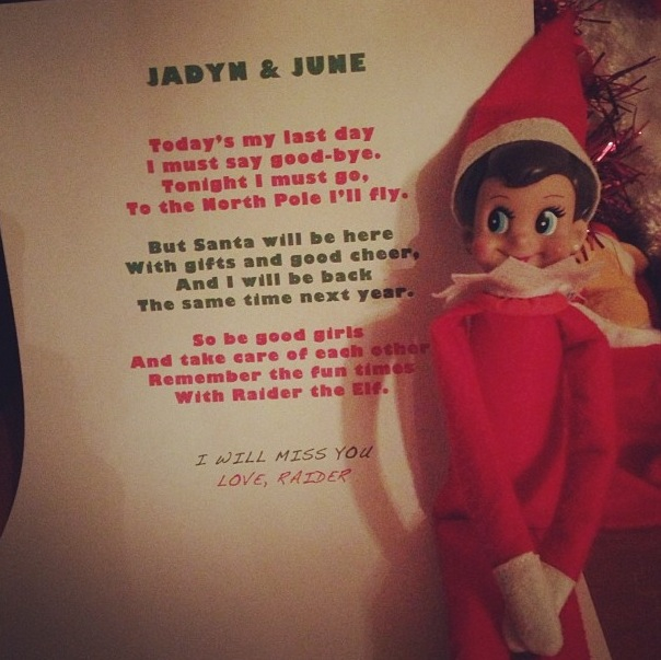 Elf on the Shelf Goodbye 2