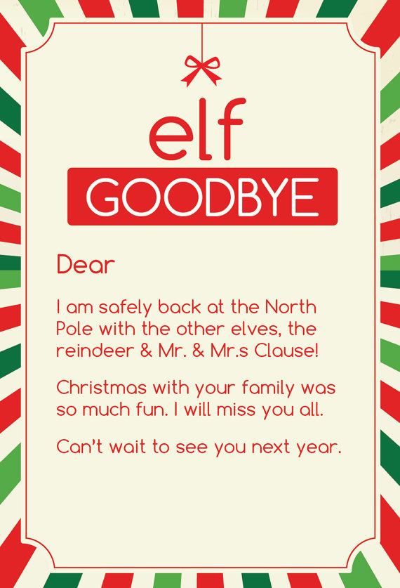 Elf on the Shelf Goodbye 8