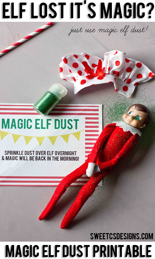 recover your elf on the shelf with magic dust
