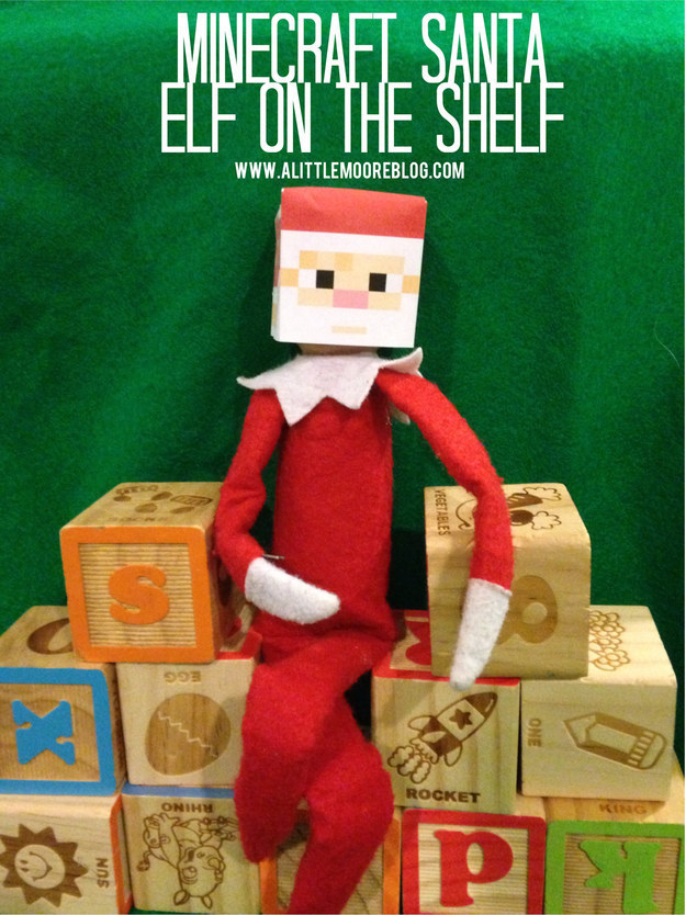Elf on the Shelf Printable Minecraft Santa Mask