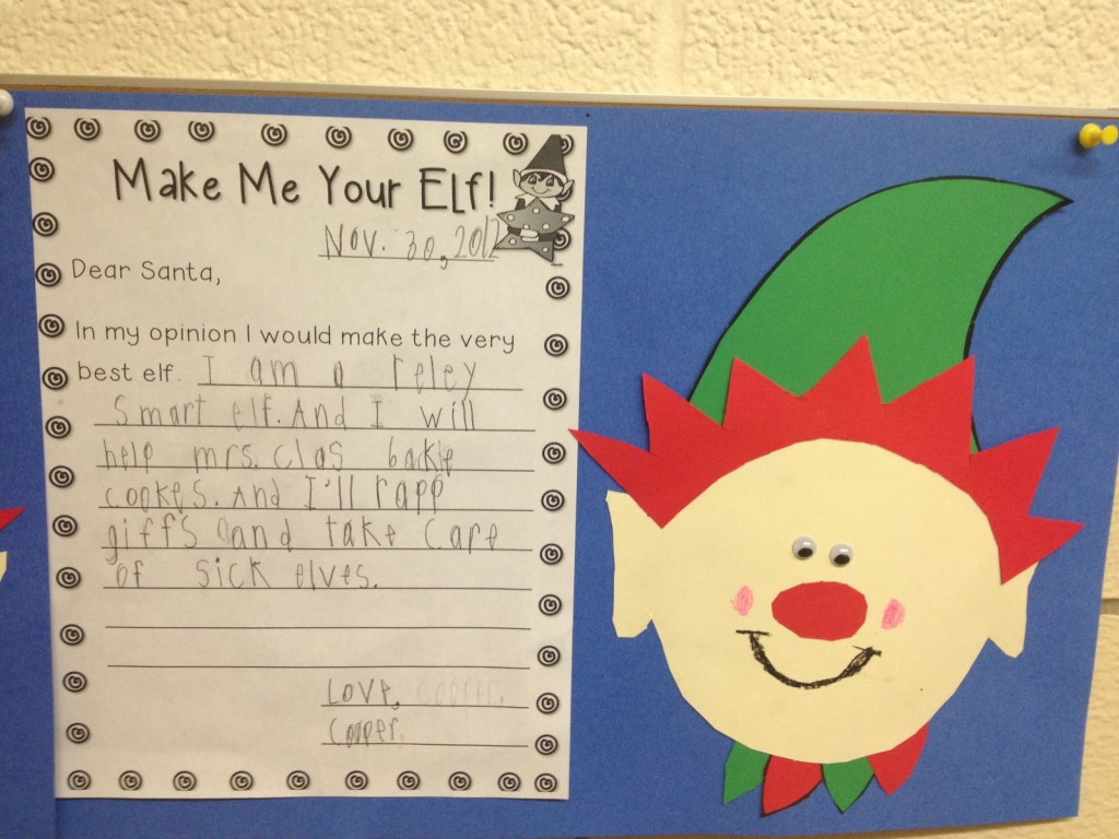 Elf on the Shelf Letter to Santa