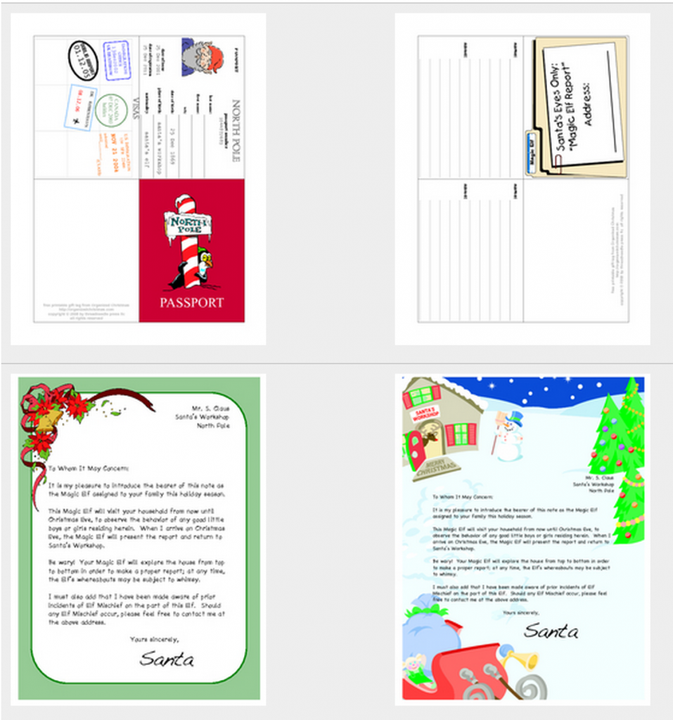 Elf On The Shelf Letters | Search Results | Calendar 2015